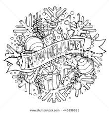 new years stuff new year greeting card stuff stock illustration 445336825