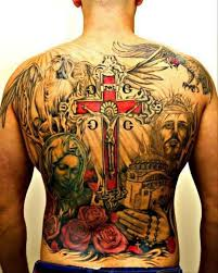 great jesus with crucifix tattoo on whole back tattoos book