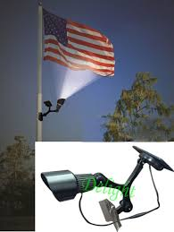 Flag Pole Lights Solar Powered Solar Powered Garden Decor Light Top Flag Pole Flagpole Landscape