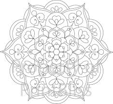 20 flower mandala printable coloring printbliss etsy
