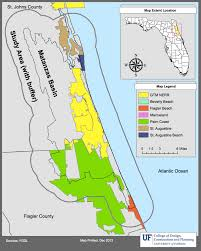 Map Of St Augustine Fl About Planning For Sea Level Rise In The Matanzas Basin