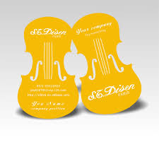 Free Business Cards Printing Free Shippng Nice Violin Design Custom Business Cards Cmyk
