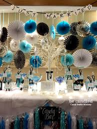 candy table for wedding a blue white black themed wedding candy table at shangri la
