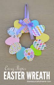 how to make easter wreaths easy paper easter wreath easter crafts easter and wreaths