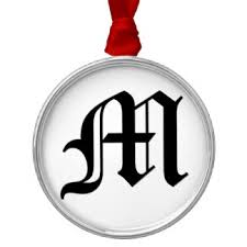 letter ornaments keepsake ornaments zazzle