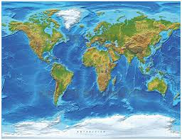 free world maps digital vector royalty free world relief map in the gall