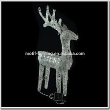 Lighted Sleigh And Reindeer by Large Outdoor Christmas Reindeer Light Large Outdoor Christmas