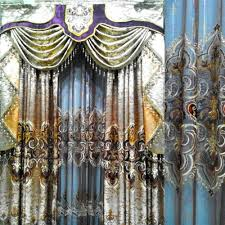 Buy Valance Curtains Golden Foil Organza Curtain Extreme Luxury Blind Finished Curtain