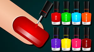 learn colors with surprise nail arts learn colours to kids