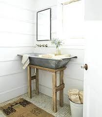 Guest Bathroom Decor Ideas Bathroom Decor Ideas Galvanized Metal Tub Farmhouse Sink Guest