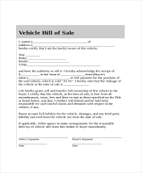 Certification Letter Of Ownership Sle Blank Bill Of Sale Form Equipment Bill Of Sale Form Free