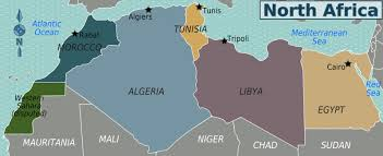tunisia on africa map tunisia map africa