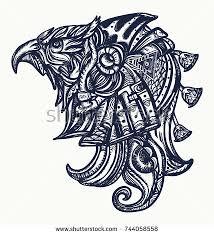 ancient tshirt designhorus gods stock vector