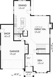 narrow floor plans floor plan for 10075 40 ft wide narrow lot house plan w