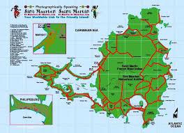 map of st martin worldrecordtour america caribbean martin st