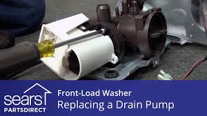 replacing the drain pump on a front load washer youtube