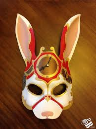 rabbit mask halloween evil rabbit mask