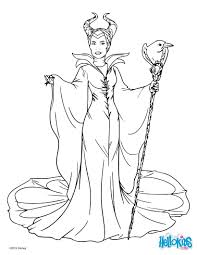 maleficent with cane coloring pages hellokids com