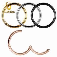 gold piercing rings images G23titan rose gold color septum rings g23 titanium open small jpg