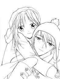 anime couple coloring pages projects anime