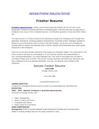 Objective For Mba Resume Resume For Internship Of Mba Freshers And Format Careerride Dental