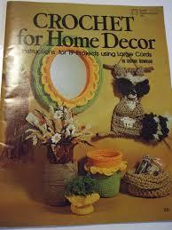 crochet home decor crochet for home decor 19 designs patterns large cord macrame 1977