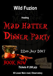 book tickets for mad hatter dinner party wild fuzion quicket