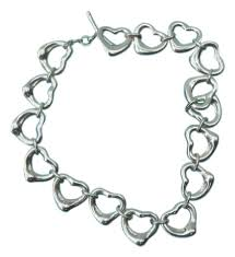 link bracelet with heart images Tiffany co silver peretti open heart link toggle 7 5 quot bracelet jpg