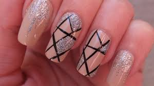elegant and silver prom nail art design tutorial youtube