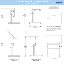 Drafting Table Dimensions Drawing Stand Drafting Table Elephant Size Dst E Manufacturer