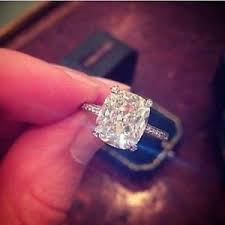engagement rings cushion cut certified 5 00ct cushion cut diamond solitaire engagement ring 14k