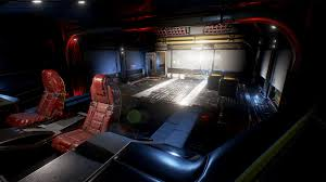 spaceship interior environment set by denys rutkovskyi in