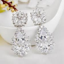 cubic zirconia earrings shining copper zircon with cubic zirconia earrings 011146581