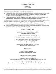 Program Management Resume Examples by Athletic Director And Facility Manager Resume