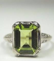 art deco peridot ring sos u003d shiny objects of our obsession