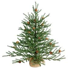 Upside Down Christmas Tree by Vickerman Carmel Pine Cone Christmas Tree With Burlap Base