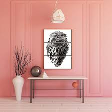 d馗oration indienne chambre blanc et noir indien décor cool aigle animaux peinture imprimer
