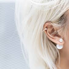 one sided earrings tuesday ten september style tips pearl earrings pearls and