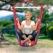 sorbus hanging hammock chair swing seat for any indoor or