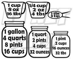 32 cups to gallons measuring cups decal etsy