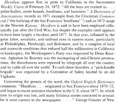 etymology what is the lost origin of hoodlum