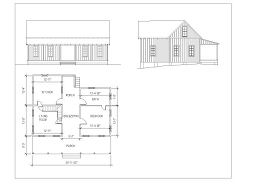 Farm Cottage Plans by Authentic Old House Designs