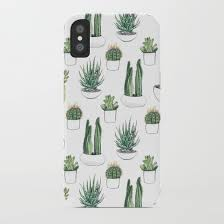 watercolour cacti and succulent iphone case by