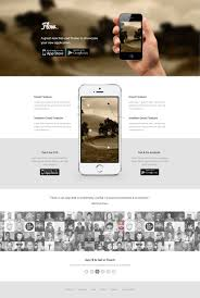 freebie flow mobile app landing page template psd
