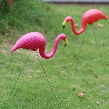 outdoor plastic simulation flamingo decoration for garden festival