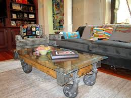 Make Your Own Coffee Table by Challenge Yourself To Make Your Own Factory Cart Coffee Table