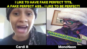 Tits Meme - mononeon cardi b i like to be perfect tits and ass youtube