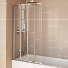 glass bath shower doors 800mm modern pivot folding bath shower glass screen reversible