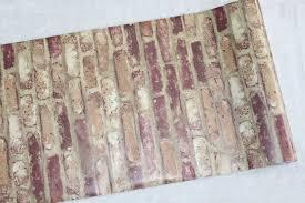 faux brick peel stick wallpaper rusty red brown purple self