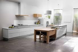 cuisine blanche moderne enchanteur cuisine blanche et bois et cuisine contemporaine